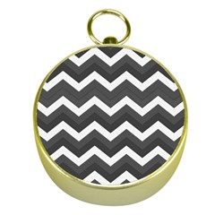 Chevron Dark Gray Gold Compasses