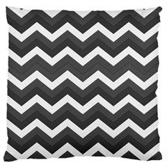 Chevron Dark Gray Standard Flano Cushion Cases (Two Sides)