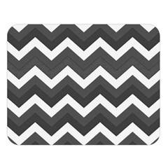 Chevron Dark Gray Double Sided Flano Blanket (large)