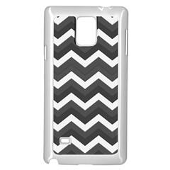 Chevron Dark Gray Samsung Galaxy Note 4 Case (White)