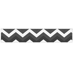 Chevron Dark Gray Flano Scarf (Large)