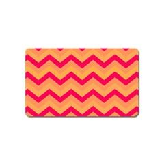 Chevron Peach Magnet (name Card)