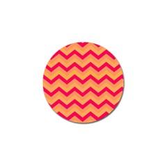 Chevron Peach Golf Ball Marker (10 Pack)
