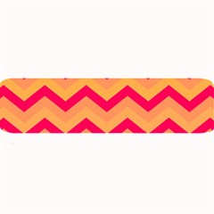 Chevron Peach Large Bar Mats