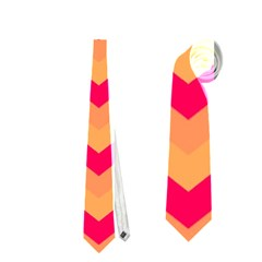 Chevron Peach Neckties (one Side)