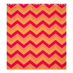 Chevron Peach Shower Curtain 66  x 72  (Large)