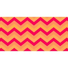 Chevron Peach YOU ARE INVITED 3D Greeting Card (8x4)