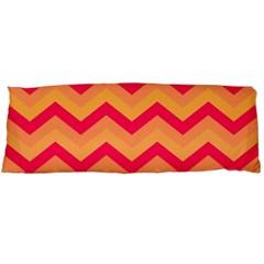 Chevron Peach Body Pillow Cases Dakimakura (two Sides)