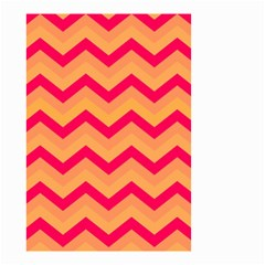 Chevron Peach Small Garden Flag (Two Sides)