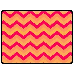 Chevron Peach Double Sided Fleece Blanket (large)