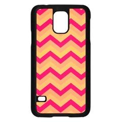 Chevron Peach Samsung Galaxy S5 Case (black)