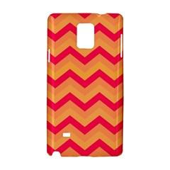 Chevron Peach Samsung Galaxy Note 4 Hardshell Case