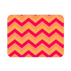 Chevron Peach Double Sided Flano Blanket (Mini)