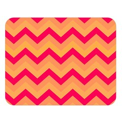 Chevron Peach Double Sided Flano Blanket (Large)