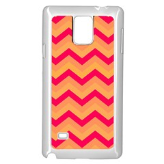 Chevron Peach Samsung Galaxy Note 4 Case (white)