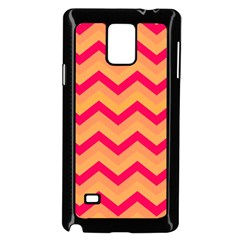 Chevron Peach Samsung Galaxy Note 4 Case (black)