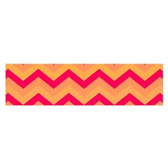 Chevron Peach Satin Scarf (oblong)