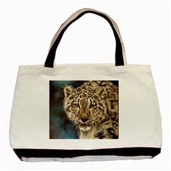 Snow Leopard Basic Tote Bag (two Sides)