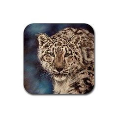 Snow Leopard Drink Coasters 4 Pack (square)