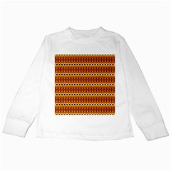 Cute Seamless Tile Pattern Gifts Kids Long Sleeve T-Shirts