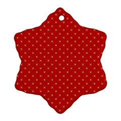 Cute Seamless Tile Pattern Gifts Snowflake Ornament (2 Side)