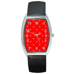 Cute Seamless Tile Pattern Gifts Barrel Metal Watches