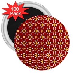 Cute Seamless Tile Pattern Gifts 3  Magnets (100 Pack)