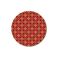 Cute Seamless Tile Pattern Gifts Magnet 3  (round)