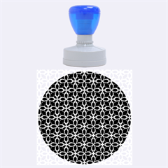 Cute Seamless Tile Pattern Gifts Rubber Round Stamps (Large)