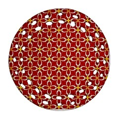 Cute Seamless Tile Pattern Gifts Round Filigree Ornament (2side)
