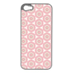 Cute Seamless Tile Pattern Gifts Apple Iphone 5 Case (silver)
