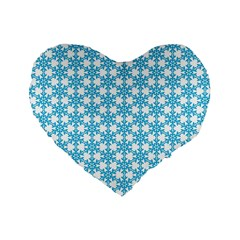 Cute Seamless Tile Pattern Gifts Standard 16  Premium Heart Shape Cushions