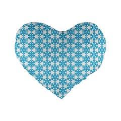 Cute Seamless Tile Pattern Gifts Standard 16  Premium Flano Heart Shape Cushions
