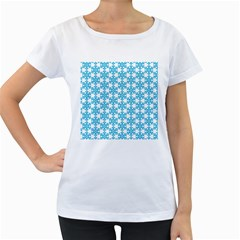 Cute Seamless Tile Pattern Gifts Women s Loose Fit T Shirt (white)