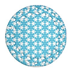 Cute Seamless Tile Pattern Gifts Ornament (round Filigree)