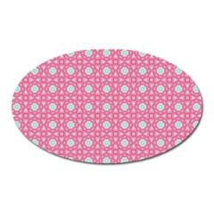 Cute Seamless Tile Pattern Gifts Oval Magnet