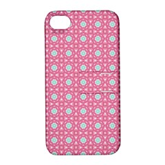 Cute Seamless Tile Pattern Gifts Apple Iphone 4/4s Hardshell Case With Stand
