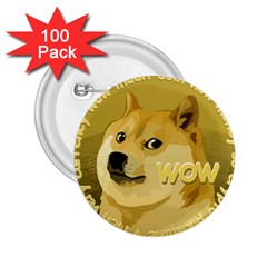 Dogecoin 2 25  Buttons (100 Pack)