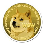 Dogecoin Magnet 5  (Round) Front