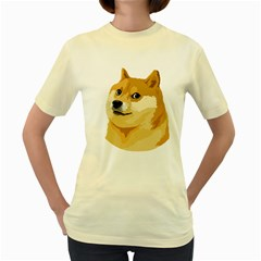 Dogecoin Women s Yellow T Shirt