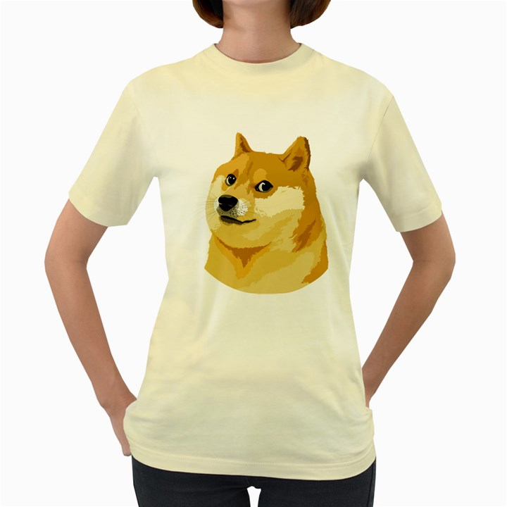 Dogecoin Women s Yellow T-Shirt