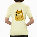 Dogecoin Women s Yellow T-Shirt Back