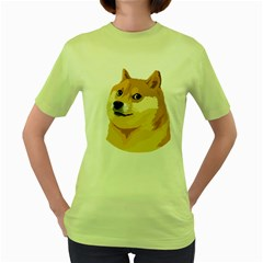 Dogecoin Women s Green T Shirt