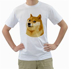 Dogecoin Men s T-Shirt (White) (Two Sided)