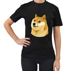 Dogecoin Women s T Shirt (black) (two Sided)