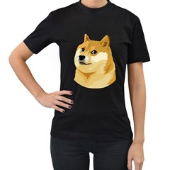 Dogecoin Women s T-Shirt (Black)