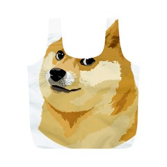 Dogecoin Full Print Recycle Bags (M)