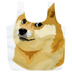 Dogecoin Full Print Recycle Bags (L)  Front