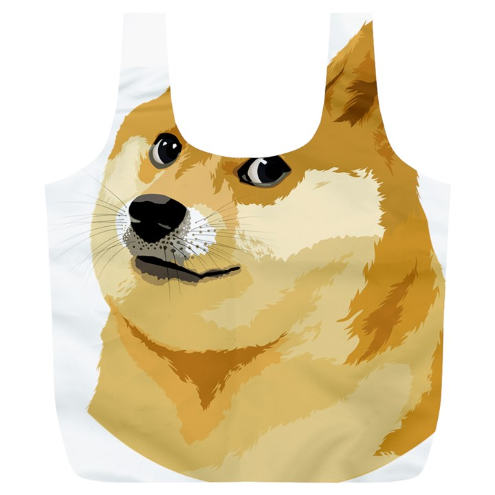 Dogecoin Full Print Recycle Bags (L)