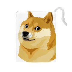 Dogecoin Drawstring Pouches (large)